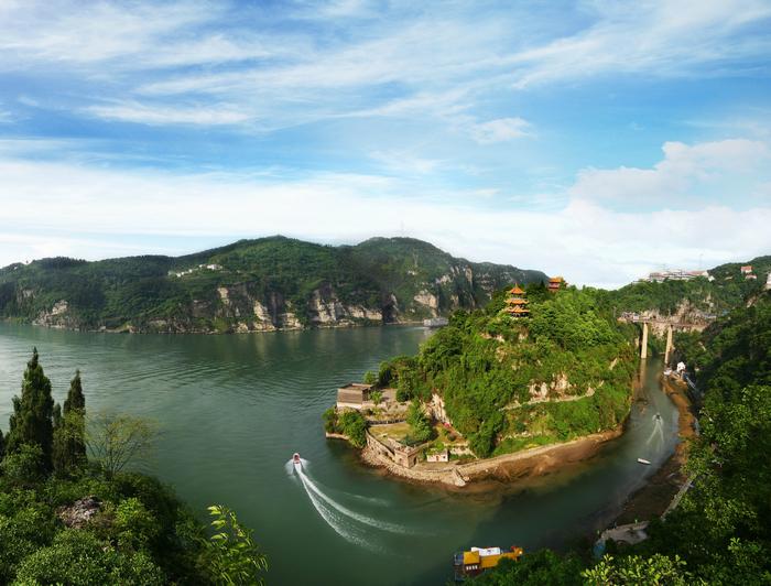 三游洞の周辺の風景