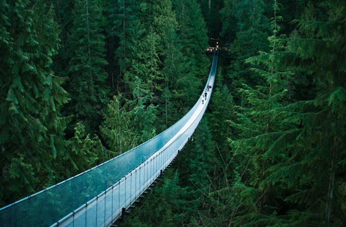 死ぬまでに一度は行きたい世界の絶景:キャピラノの吊り橋