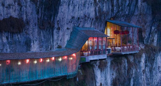 死ぬまでに一度は行きたい世界の絶景:三游洞の絶壁レストラン