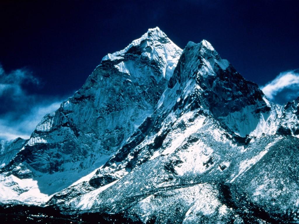 エベレストの最上部の風景