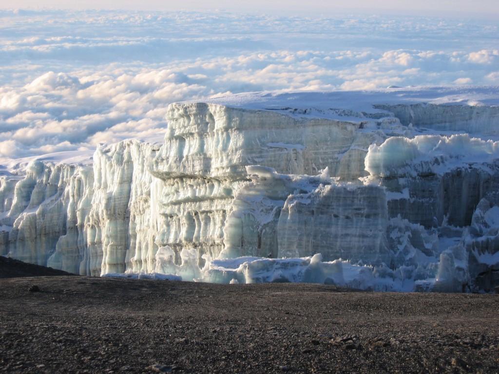 キリマンジャロにある氷河