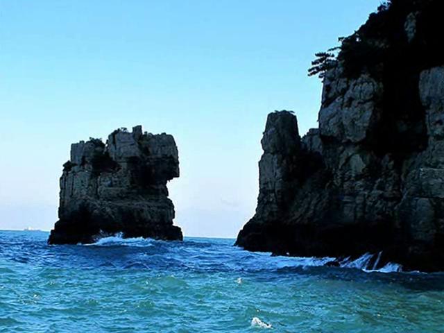 巨済島の獅子岩