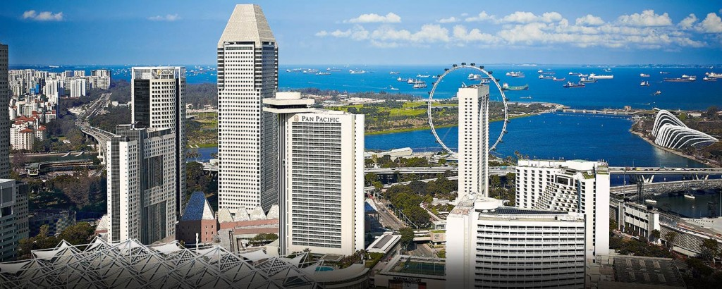パン・パシフィック・シンガポール Pan Pacific Singaporeからの風景