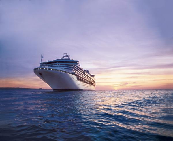 プリンセス・クルーズのダイヤモンドプリンセス客船の風景