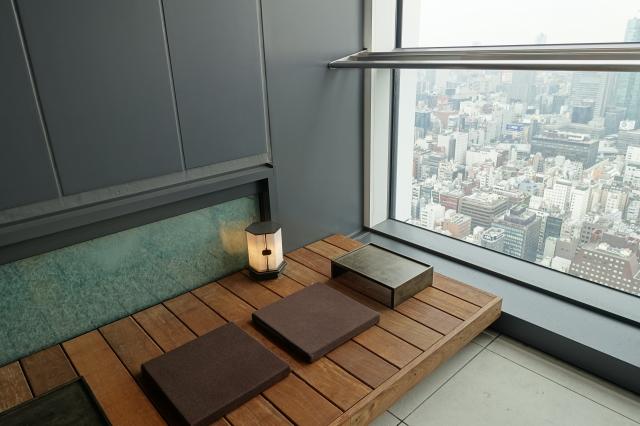 アンダーズ東京のAO スパ アンド クラブのトリートメントルームの空間