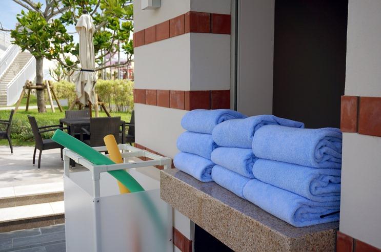 ヒルトン沖縄北谷リゾートのスタッフ待機所