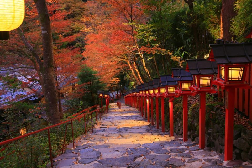 秋の京都の風情を愉しむ「貴船神社のもみじ灯篭」