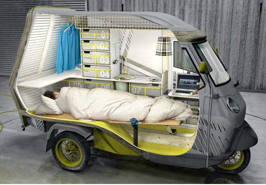 1人乗りのキャンピングカー!?斬新すぎる小さなキャンピングカー「bufalino」の発売が待ち遠しすぎる