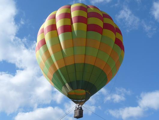 千本松牧場の熱気球