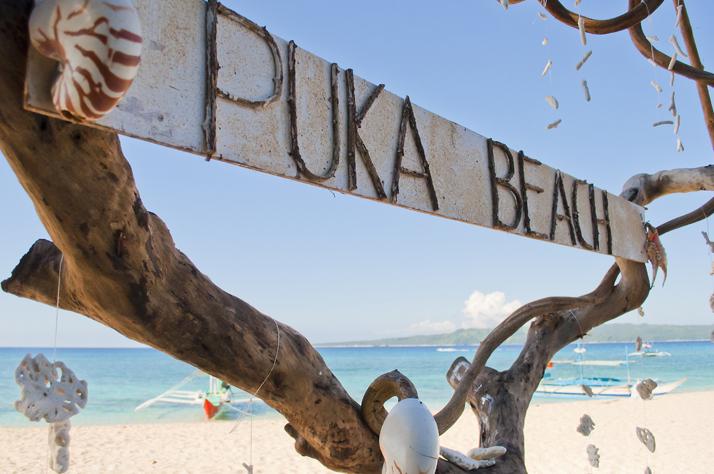 ボラカイ島のビーチの風景