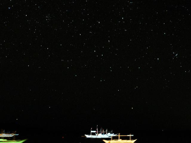 ボラカイ島の星空の風景