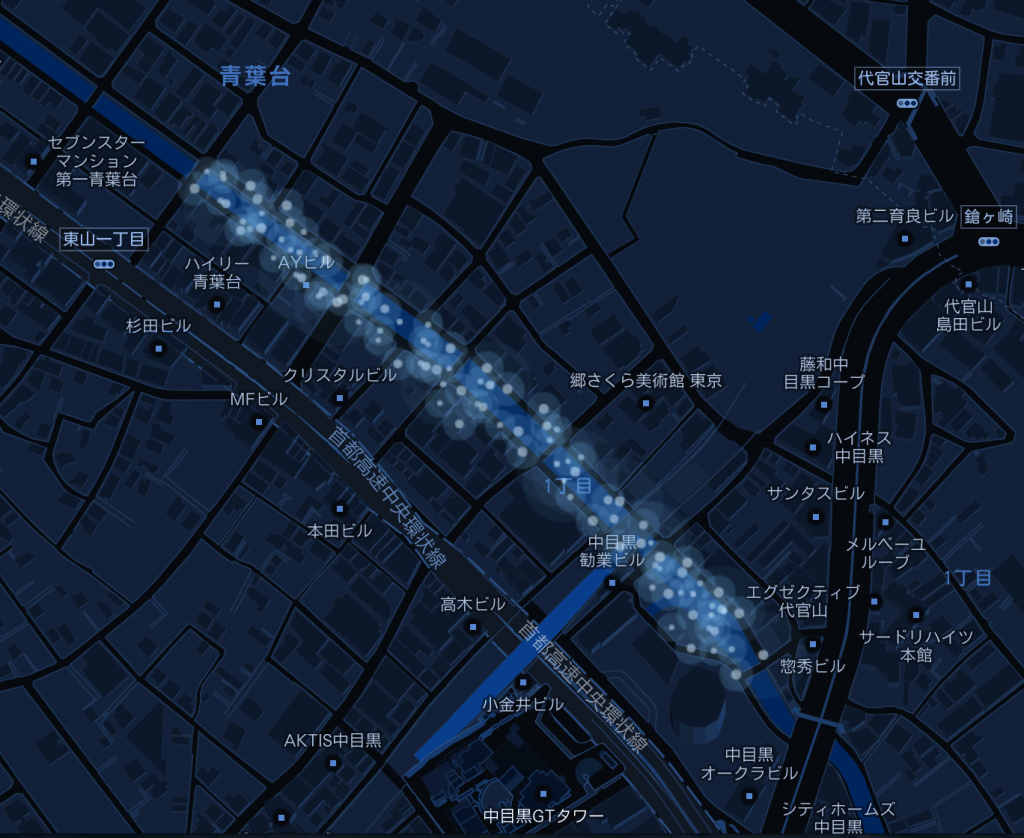 Nakameguro 青の洞窟 2014のマップ