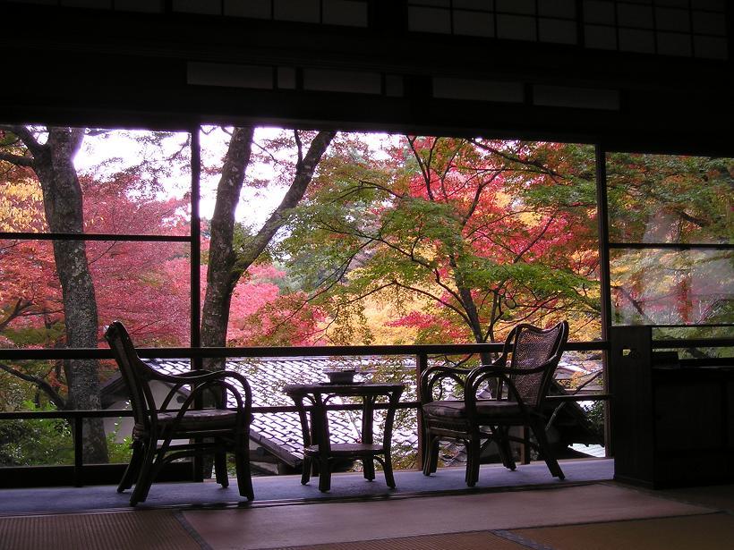 強羅環翠楼の紅葉が見られる客室