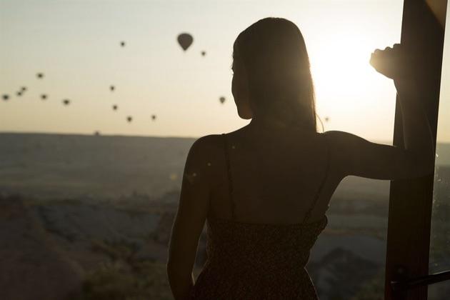 カッパドキア ケーブ リゾート スパからの早朝の眺め
