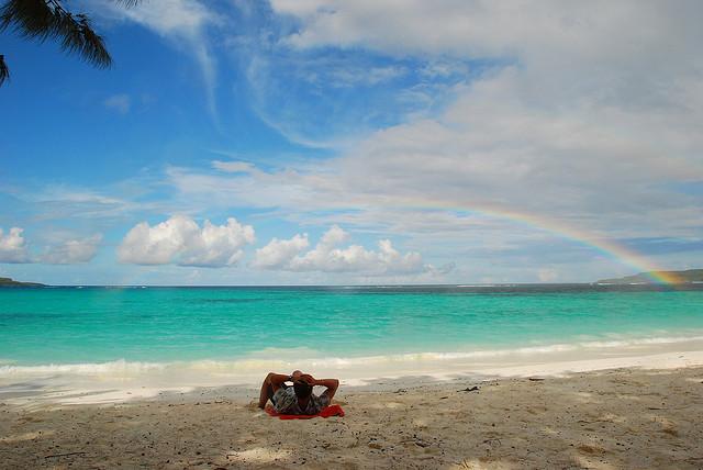 ウベア島のビーチ