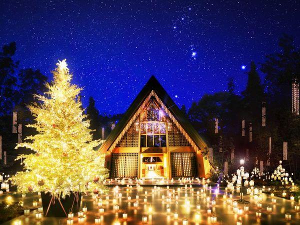 ロマンチックな夜を満喫する軽井沢高原教会の「クリスマスキャンドルナイト」