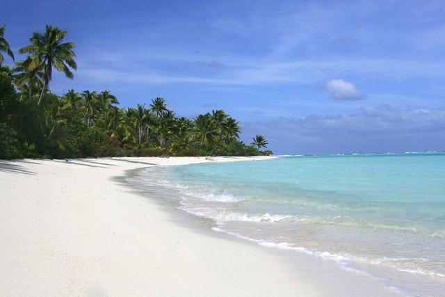 アイツタキ島のビーチ