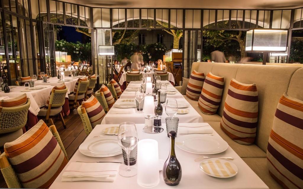 ホテル・ビブロス・サントロペのレストラン