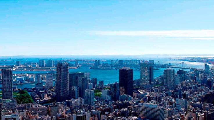 アンダーズ東京の客室からの眺め