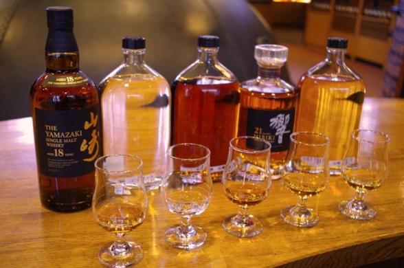 山崎蒸溜所のウイスキー