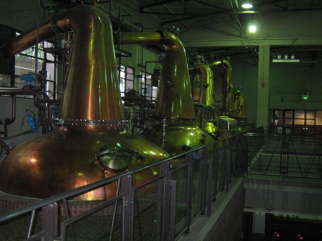 山崎蒸溜所の蒸留釜