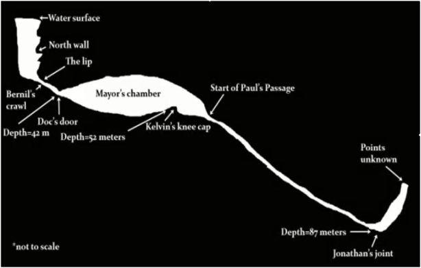 ヒナトゥアン川の水中マップ