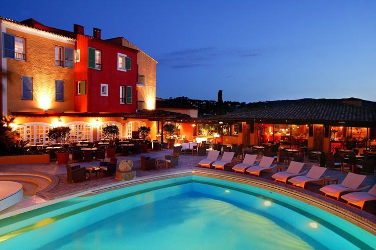 ホテル・ビブロス・サントロペの夜の風景