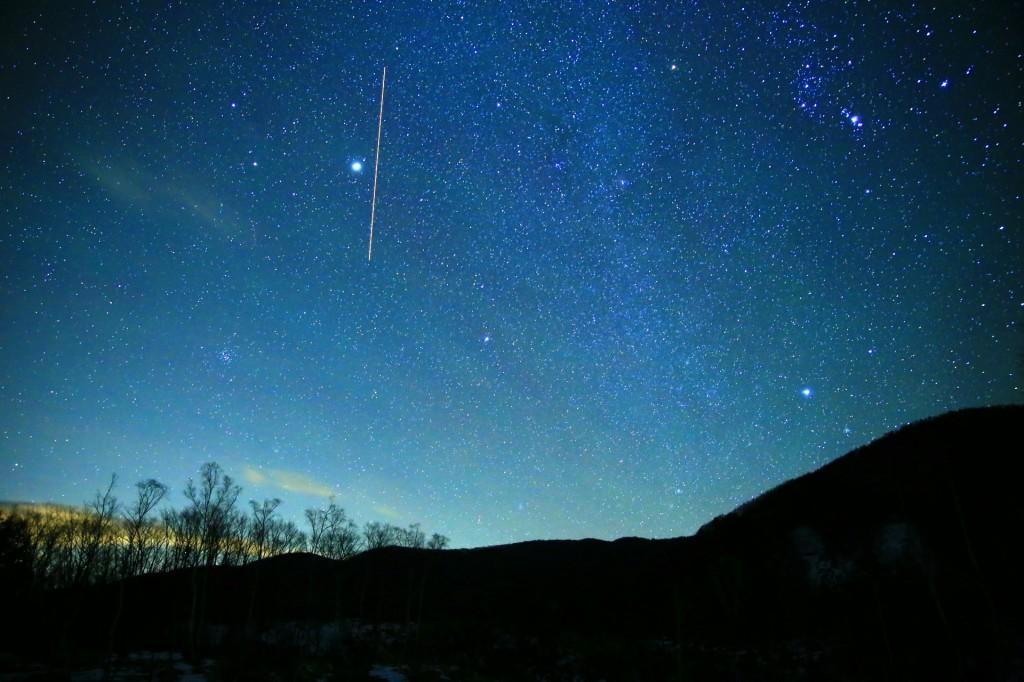 乗鞍高原からのふたご座流星群