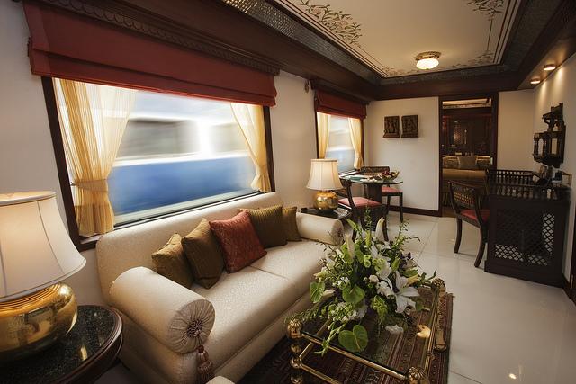マハラジャ・エクスプレスの客室