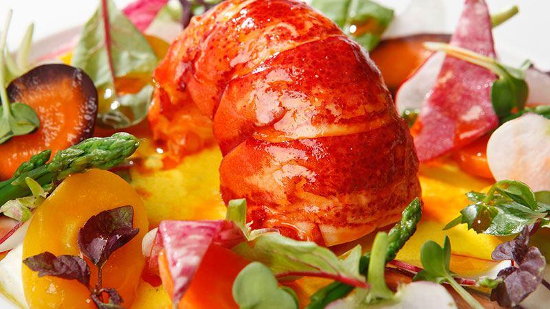 ル・リッチモンド・ジュネーブのレストランの料理