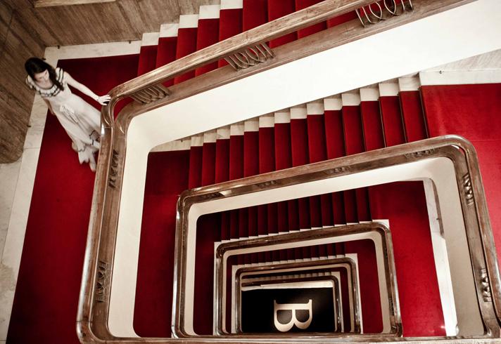 バウアー・ホテルの螺旋階段