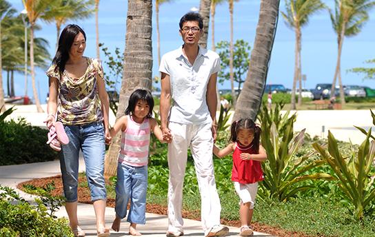 タイムシェアを利用する家族