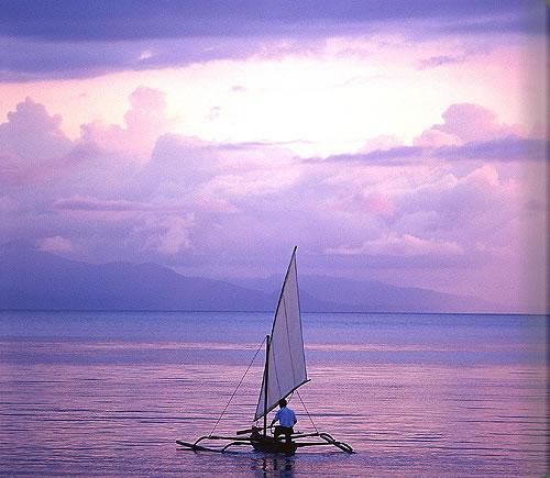 モヨ島の夕暮れ