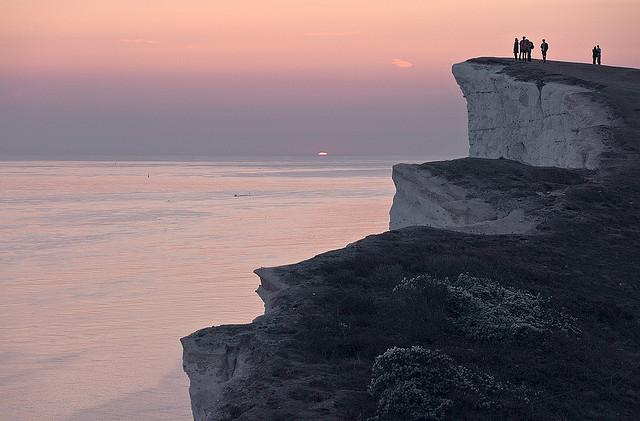 ビーチー・ヘッド Beachy Headの夕暮れ
