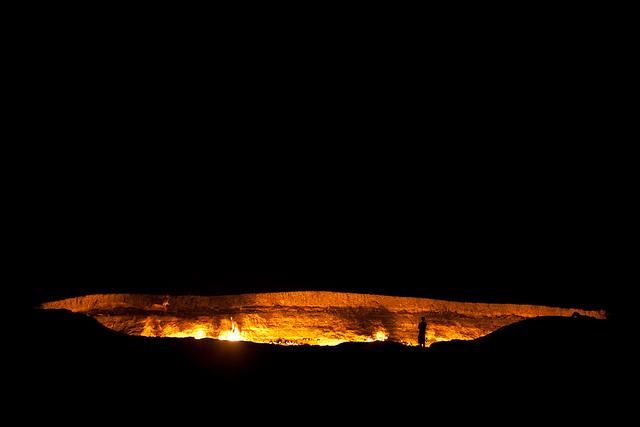 ダルヴァザの地獄の門の風景
