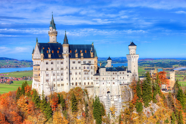 ノイシュヴァンシュタイン城の風景