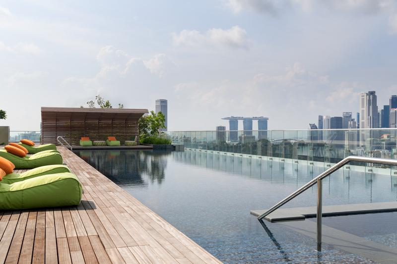 ホテル・ジェン・タングリン・シンガポールのスイミングプール(4階)