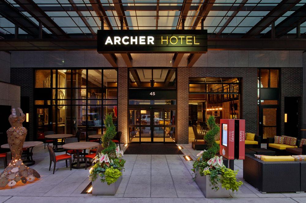 デビッド・バーク・ファブリックがあるアーチャー・ホテル・ニューヨーク