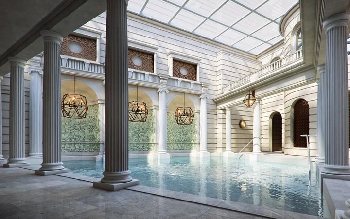ザ・ゲインズボロー・バース・スパ The Gainsborough Bath Spaの温泉プール