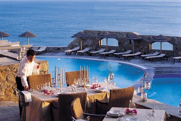 ロイヤル・ミコニアン・タラッソ・スパ Royal Myconian Thalasso Spaのレストラン