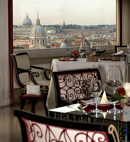 ハスラー・ローマ Hassler Romaのレストランからの眺め
