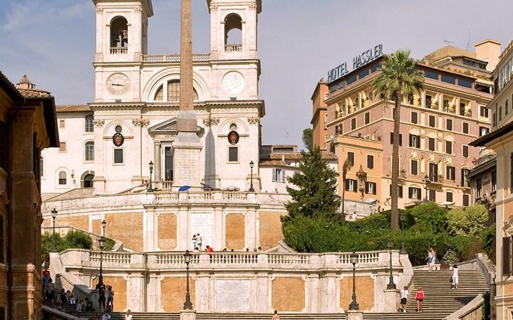 ハスラー・ローマ Hassler Romaとスペイン広場