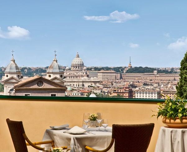 素晴らしい眺望を楽しめるローマの楽園「ホテル・エデン」