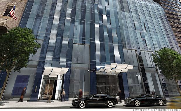 ザ・バックルーム・アット・ワン57 The Back Room at One57が入っているパークハイアット・ニューヨークの外観