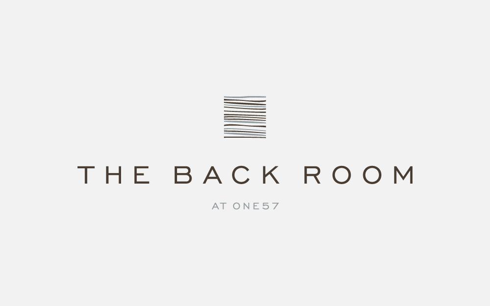 ザ・バックルーム・アット・ワン57 The Back Room at One57のロゴ
