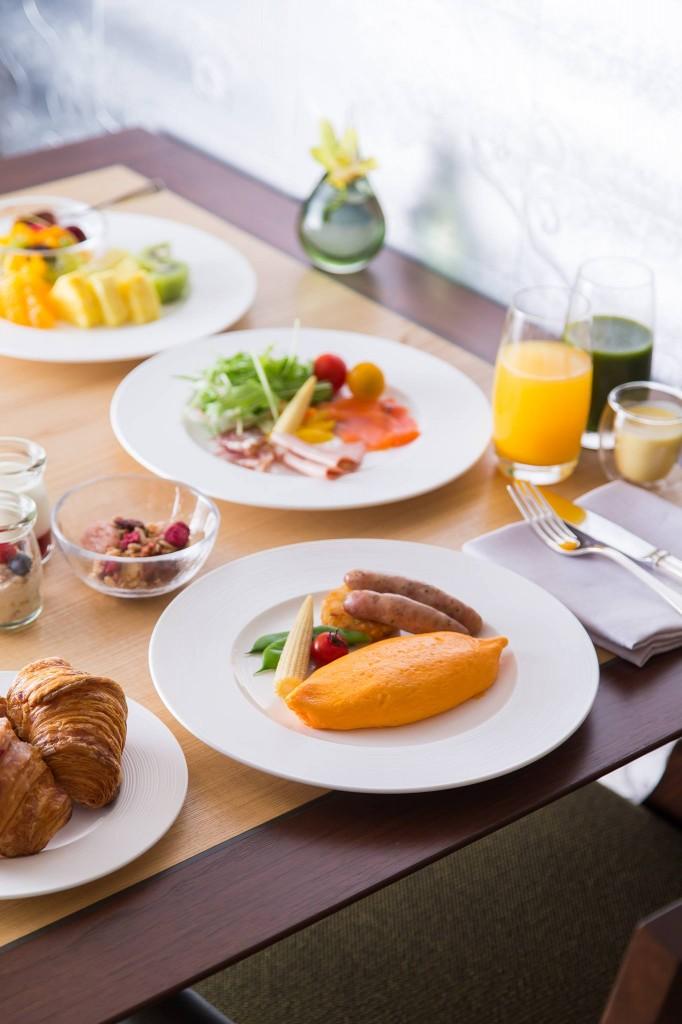 ザ・リッツ・カールトン京都の朝食のオムレツ