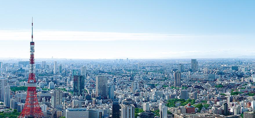 アンダーズ東京のウエディング会場からの眺め