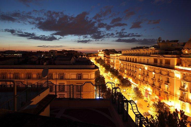 レジーナ・ホテル・バリオーニ・ローマ Regina Hotel Baglioni Romeからの眺め