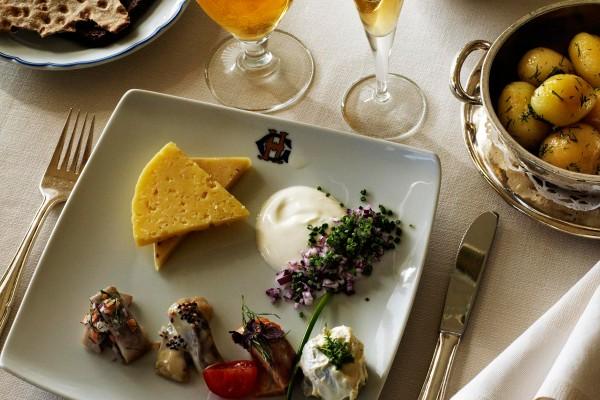 グランド・ホテル Grand Hotel Stockholmのレストランの料理