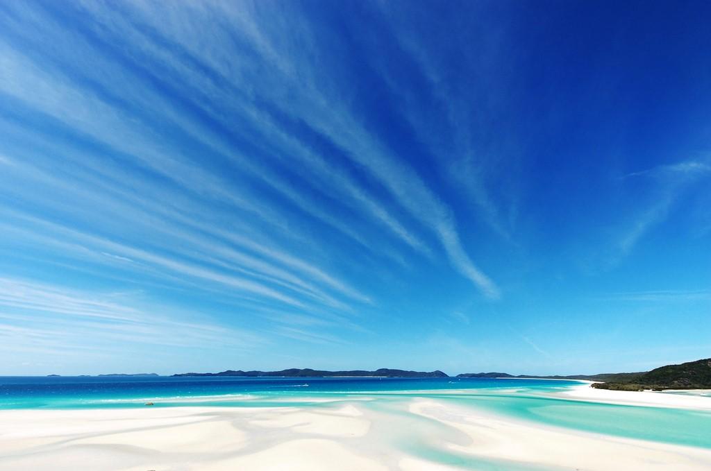 オーストラリアのホワイトヘブンビーチ